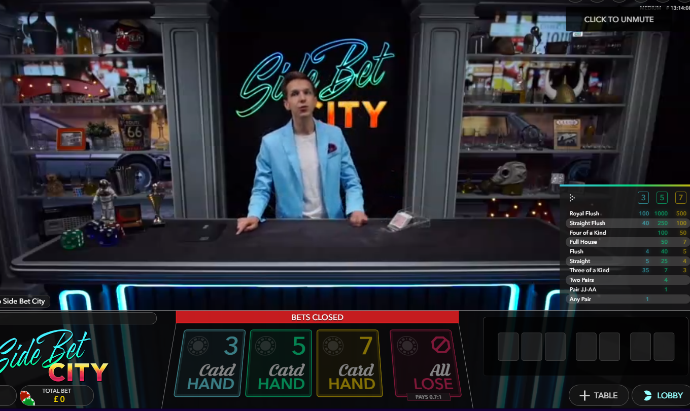 Side Bet City | bCasino UK | Deposit £10 play with £20